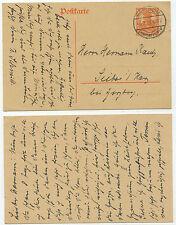 34138 - Ganzsache P 110 - Postkarte - Northeim 6.7.1918 nach Sieber