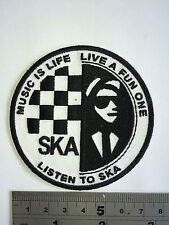 SKA - Music for Life Patch Embroidered - Iron or Sew On
