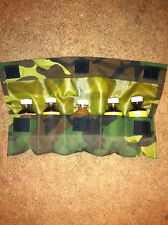 Camoflauge Lure Pouch hold 5 1oz Lure bottles Traps Trap Trapping