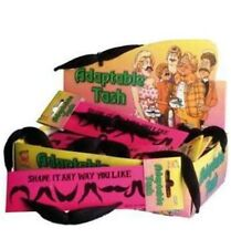 20s 60s 70s 80s Fancy Dress adaptable Tash remodelan Bigote Negro por Smiffys