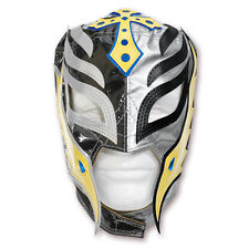 WWE Rey Mysterio Silver - Black - Yellow - Blue KIDS Wrestling Mask, WCW ECW WWF
