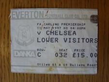 11/05/1997 Ticket: Everton v Chelsea  (folded, marked)