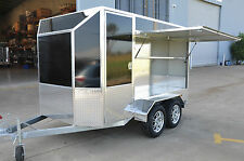 MOBILE COFFEE OR RETAIL ALUMINUM VAN TRAILER - LIGHTWEIGHT & PRESENTABLE