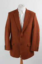 "VINTAGE HARRIS TWEED WOOL JACKET SUIT SMART DESIGNER CLASSIC COUNTRY C40 44"" 387"