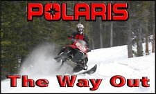 POLARIS SNOWMOBILE BANNER, SIGN FLAG GARAGE TRAILER High Quality!!