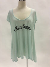 NWT Auth Wildfox Couture SWIM: MISS SUMMER COVER UP TEE S Seafoam