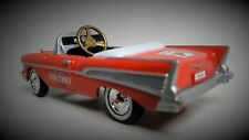 1957 Chevy Pedal Car Vintage Red Sport Hot Rod Midget Metal Show Model 1955