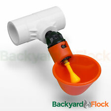 5 Pack Poultry Water Drinking Cups-Chicken Hen Automatic Drinkers & PVC Fittings