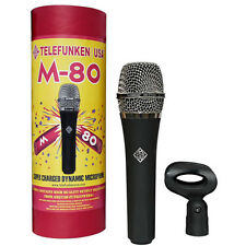 Telefunken M80 Dynamic Handheld Vocal Microphone Mic M-80 ST DEMO