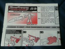 TRANSFORMERS RID RAILSPIKE INSTRUCTION BOOKLET ONLY FREE S/H