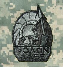 MOLON LABE SPARTAN ARMY MORALE TACTICAL 300 GREEK LAMBDA ACU DARK VELCRO PATCH