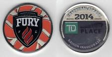 OTTAWA FURY FC NASL OFFICIAL LIMITED EDITION INAUGURAL SEASON COLLECTOR COIN