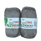 4*50g Skeins Soft Smooth Natural Bamboo Cotton Yarn lot;Sport;200g; grey