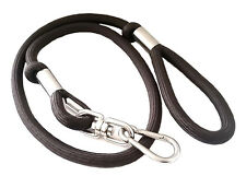 """New Durable Heavy Duty Round Solid Dog Lead(62"""" long, 3/4"""" diameter) BROWN Leash"""