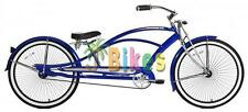 Micargi Mustang GTS Stretch Chopper, Blue - Beach Cruiser Bike