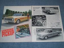 "1967 Chevy C10 Long Bed Pro Street Vintage Article ""Lowdown Pickup"""