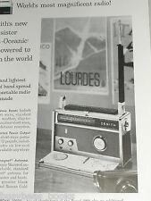 1958 Zenith advertisement, Zenith Trans-Oceanic shortwave radio