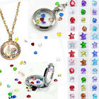 20Pcs Lucky Living Memory Floating Locket Charm Crystal Birthstones Accessory