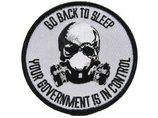Go Back To Sleep Your Government Is In Control Skull Zombie Obama Military Patch
