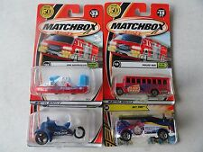 MATCHBOX FIRE/POLICE  SET OF 4 EMERGENCY RESCUE SET FP01 #52