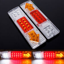 2x 19 LED REAR TAIL BRAKE REVERSE INDICATOR BROAD LIGHT LAMP TRUCK TRAILER LORRY