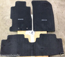 Genuine OEM Honda Civic 2dr / 4dr Black Carpet Floor Mats 2001 - 2005   S5P