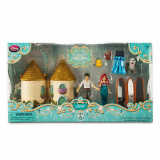 Disney Store Deluxe The Little Mermaid Castle Doll Play Set Figures Ariel Eric