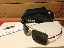 New Oakley Deviation Sunglasses Polished Gold/Dark Grey OO4061-02 Square Aviator