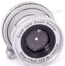 ELMAR f=5cm 1:2.8 LEICA L39 Screw 2.8/50mm Lens By E. LEITZ Wetzlar Made in 1956