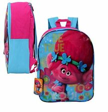"Dreamworks Trolls 15"" ""Be true to you!"" Plain Front Backpack"