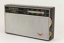 1967 Vintage SOKOL 7 Transistor Portable LW/MW Radio Leather Case USSR