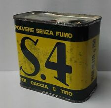 45245 Scatola di latta - Polvere da sparo senza fumo per caccia e tiro S.4