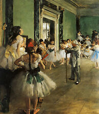 A3 - EDGAR DEGAS  THE DANCE CLASS - FAMOUS PAINTERS CLASSIC PAINTINGS Posters #4
