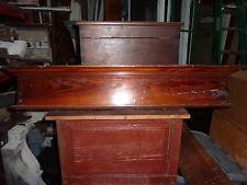 """c1880 VICTORIAN HEART pine window DOOR header pediment crown MOLDING 44 x 7 x 3"""""""