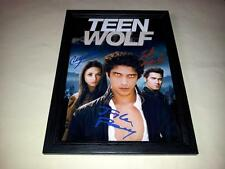 "TEEN WOLF CAST X3 PP SIGNED & FRAMED 12""X8"" POSTER TYLER POSEY CRYSTAL REED"