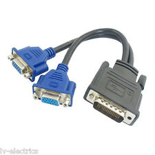 Molex DMS-59 to Dual 2 VGA Splitter Adapter Cable Lead Wire for HP Dell Monitor