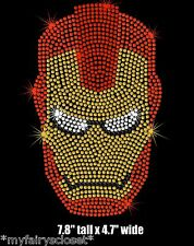 Ironman helmet iron on rhinestone transfer applique bling patch superhero