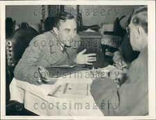 1940 Count Rene de la Taille & Georges Bonnet of France Press Photo