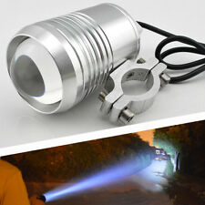 Motorcycle U2 LED Spot Fog Head Lamp Light 1200LM Waterproof Silver Shell 12V