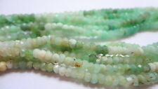 """2-3mm Faceted Rondelle Natural Chrysoprase Semi Precious Gemstone Beads - 13.5"""""""