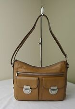 Fossil Camel Brown Leather Riley Hobo Shoulder Crossbody Bag