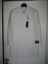Ferrecci Super 150's Pant Suit Polyester Men's 38S  PARIS WHITE 6B OV 1P