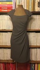 LK BENNETT 'Corvina' grey fitted ruched dress UK 10 / US 6 sheath cocktail