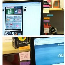 Computer Monitor Screen Post-it Board Holder: affix Memo paper Sticky Note 30cm