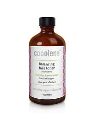 "4oz ""balancing face toner"" organic skin toner for all skin types by Cocolene"