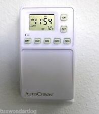 2 Pack of AutoChron Automatic Programmable Wall Switch Timers