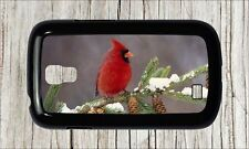 BIRD RED CARDINAL WINTER AND PINE CONE CASE COVER FOR SAMSUNG GALAXY S4 -dt56cv