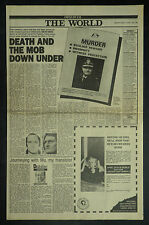 Colin Winchester Assassinated Deakin Canberra 1989 Page Newspaper Article 7243