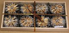 Scandinavian Swedish Straw Christmas Ornaments 40 pc bx Stars Snowflakes #57