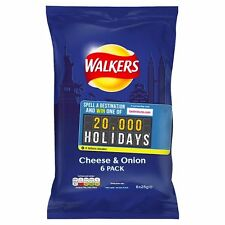 Walkers Cheese and Onion Crisps 6x25g - Sold Worldwide From UK